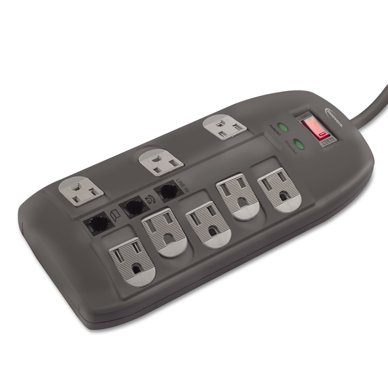 hight resolution of surge protector 8 outlets 6 ft cord 2160 joules black technology essentials innovera