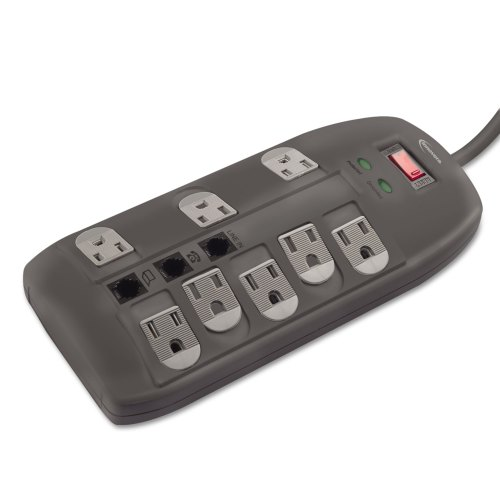 small resolution of surge protector 8 outlets 6 ft cord 2160 joules black technology essentials innovera