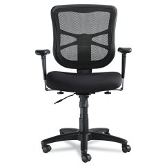 Alera Elusion Series Mesh Mid Back Multifunction Chair Accent Grey Swivel Tilt By