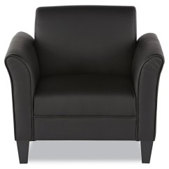 Black Leather Reception Chairs Minnie High Chair Alera Lounge Series Club By