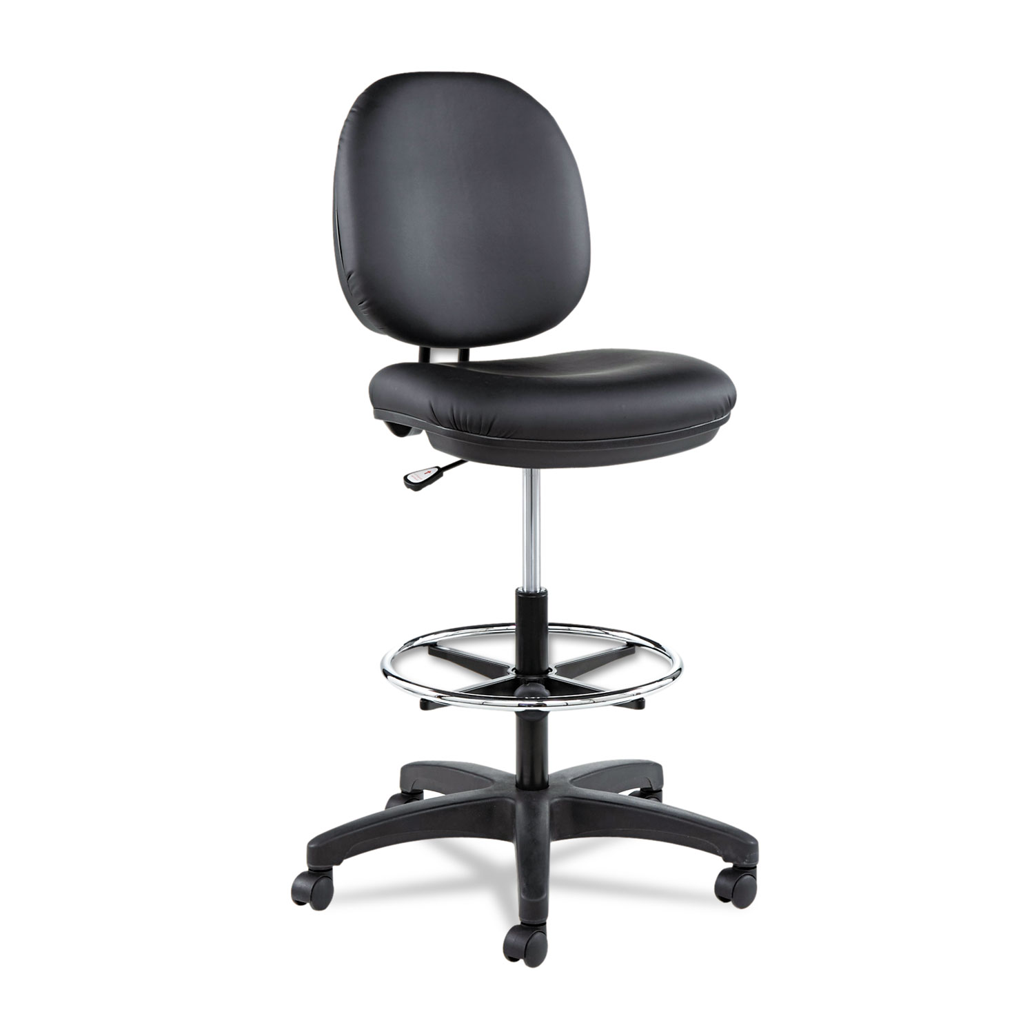 Alera Office Chairs Alera Interval Series Swivel Task Stool Pvc Free Faux Leather Black