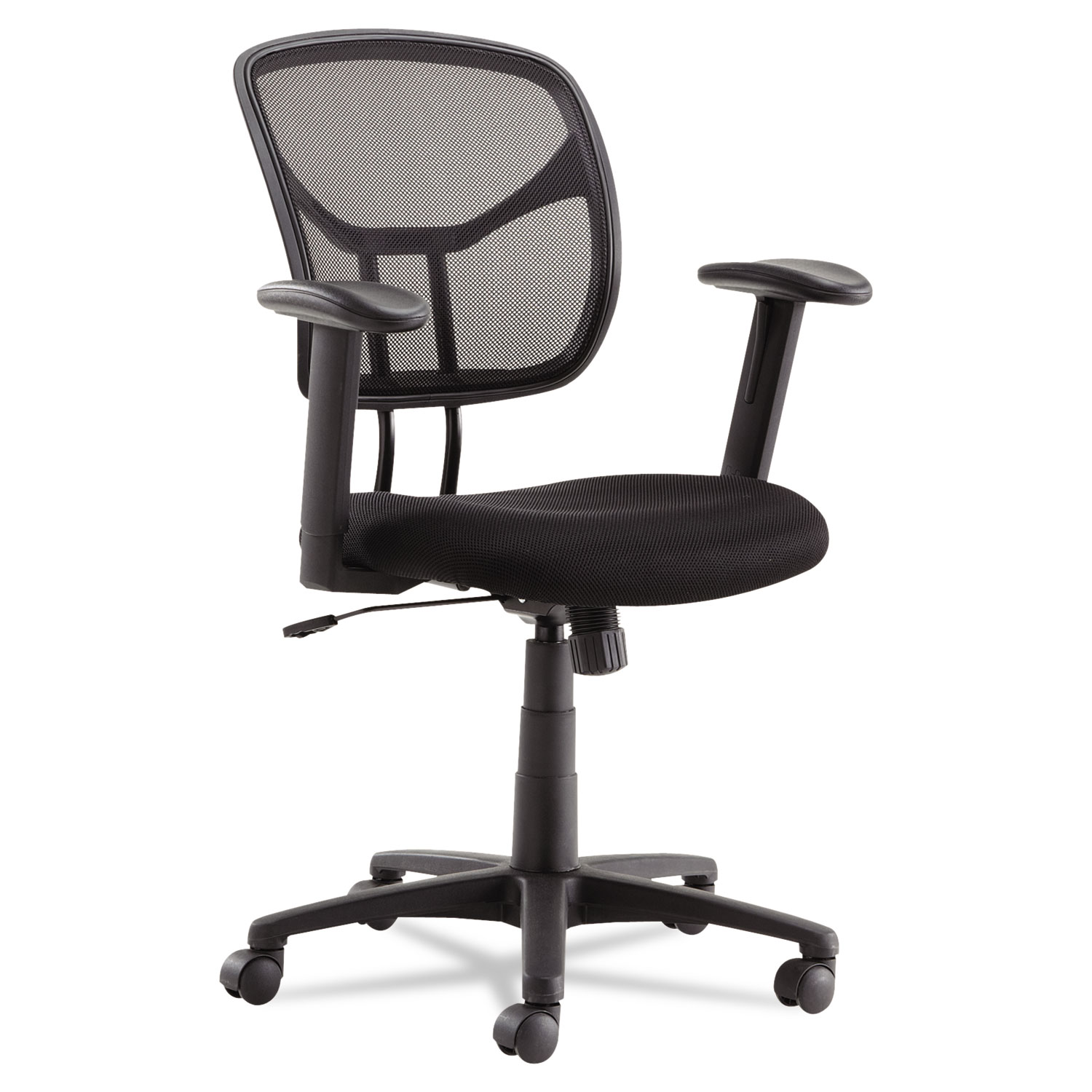 Back Supports For Chairs Swivel Tilt Mesh Task Chair With Adjustable Arms Supports Up To 250 Lbs Black Seat Black Back Black Base