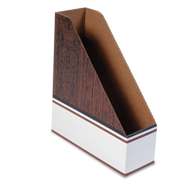 Corrugated Cardboard Magazine File Bankers Box