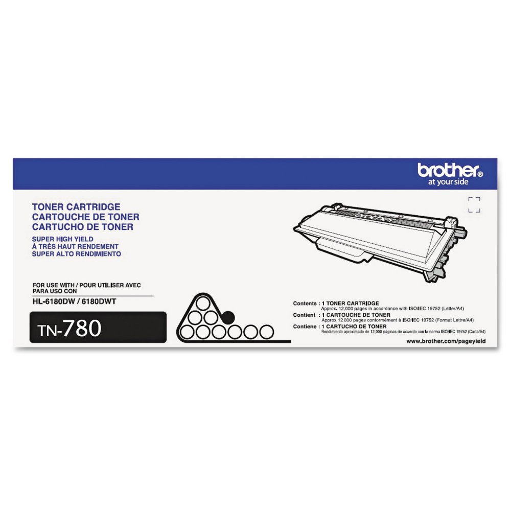 medium resolution of tn780 super high yield toner 12000 page yield black brttn780