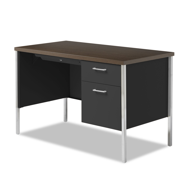 Single Pedestal Steel Desk by Alera ALESD4524BM
