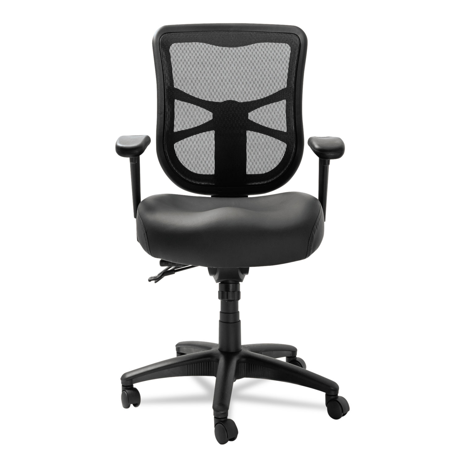 alera elusion series mesh mid back multifunction chair staples support by