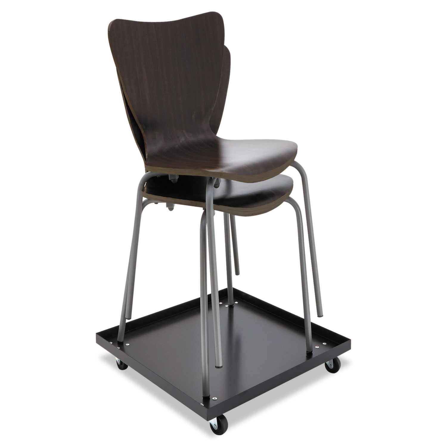 staples stacking chairs hon ignition task chair dolly by alera alesccart ontimesupplies