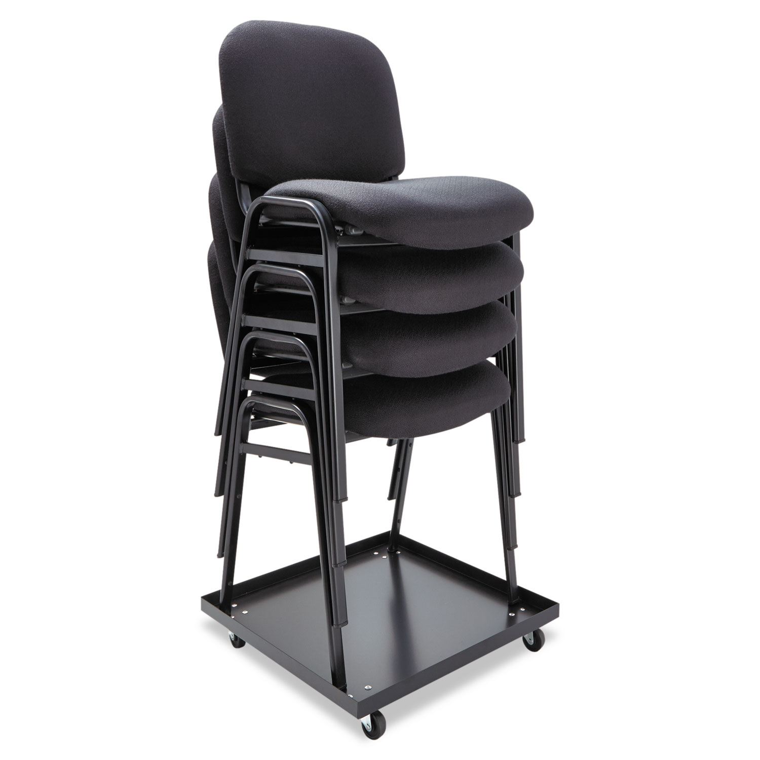 staples stacking chairs chair rentals okc dolly by alera alesccart ontimesupplies