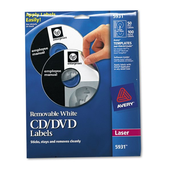 Laser Cd Labels Avery Ave5931