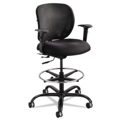 Chair Mesh Stool Black Covers For Rent Vue Heavy Duty Extended Height By Safco Saf3394bl Thumbnail 1 2