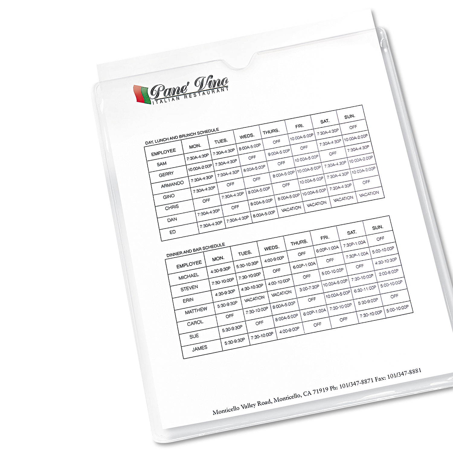 Top-Load Clear Vinyl Envelopes w/Thumb Notch by Avery