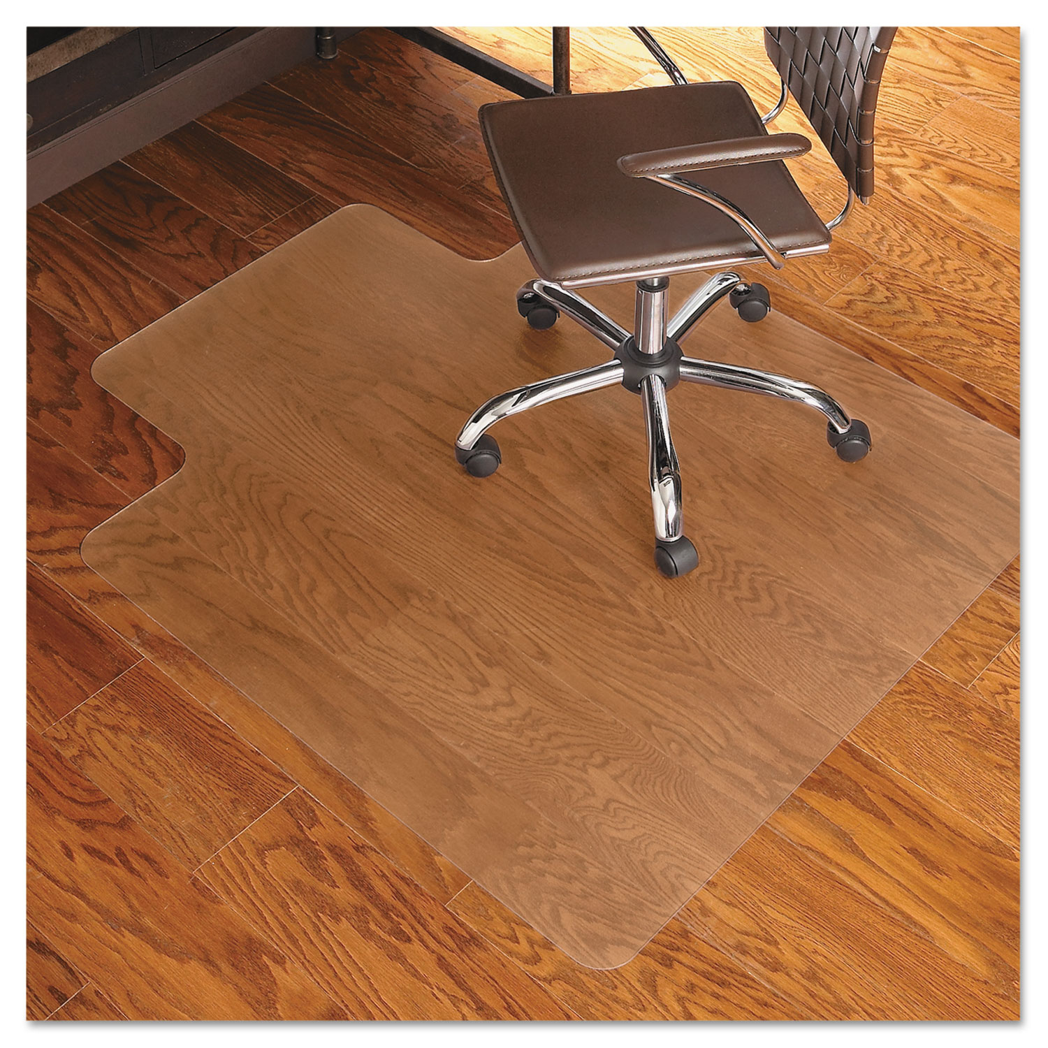 45x53 Lip Chair Mat Economy Series for Hard Floors
