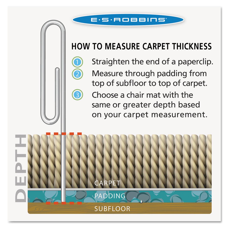 office chair mats carpet staples big w deck covers 36x48 lip mat by es robbins® esr124054 | ontimesupplies.com