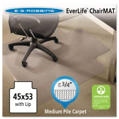 Chair Mat For Carpet Walmart Wheel Dealers In Coimbatore Everlife Mats Medium Pile With Lip By Es