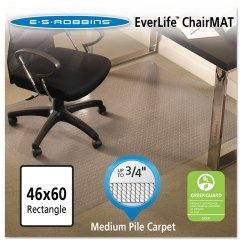 Office Chair Mat 45 X 60 Diy Folding Everlife Mats For Medium Pile Carpet By Es Robbins
