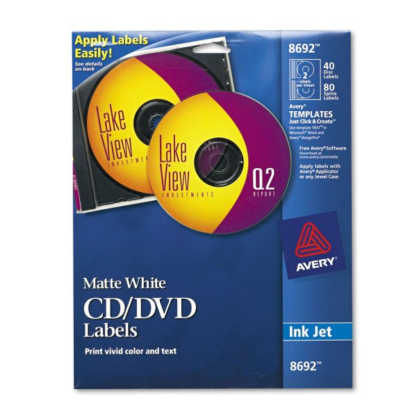 Ave8692 Avery Inkjet Cd Labels - Zuma
