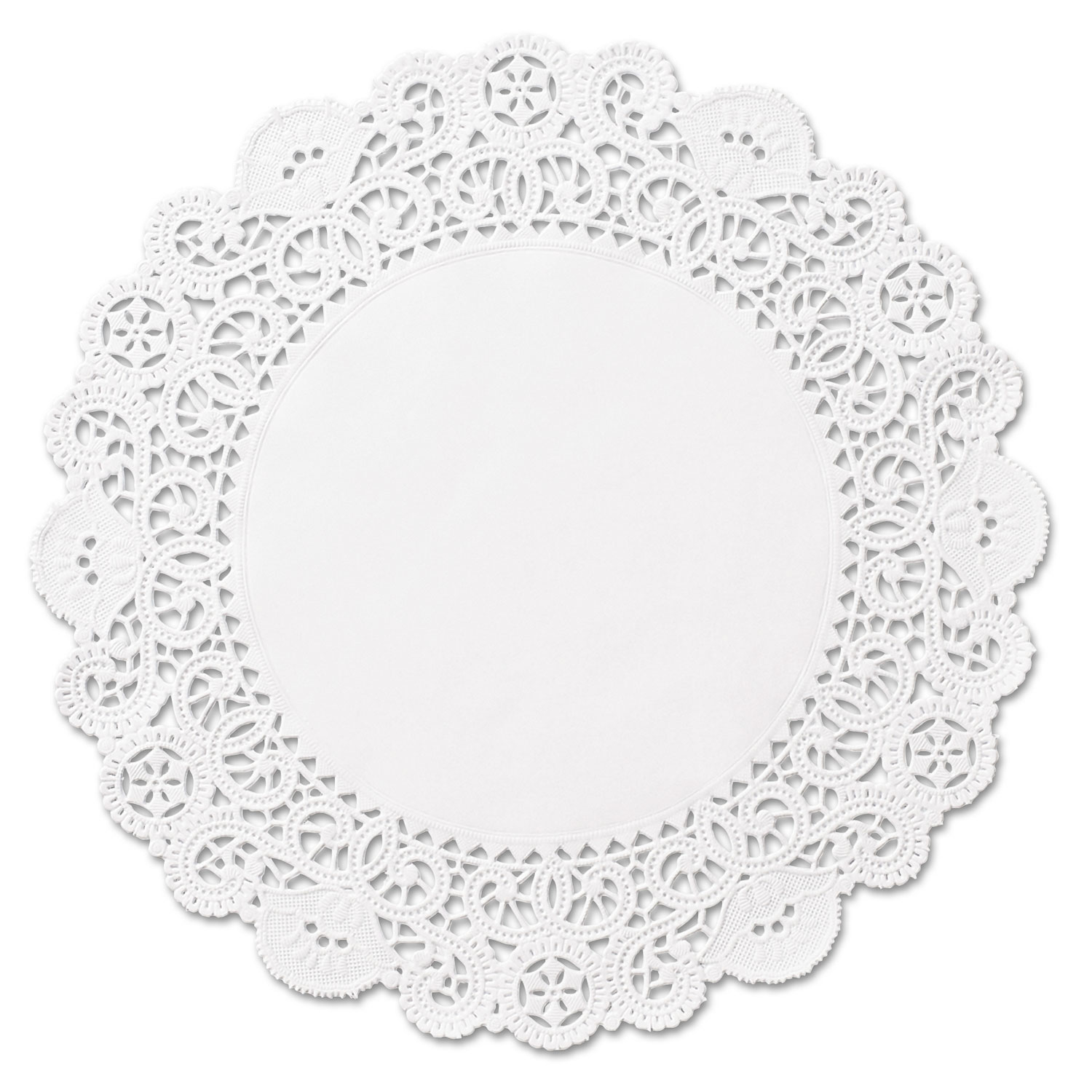 Brooklace Lace Doilies Round 4 White Carton