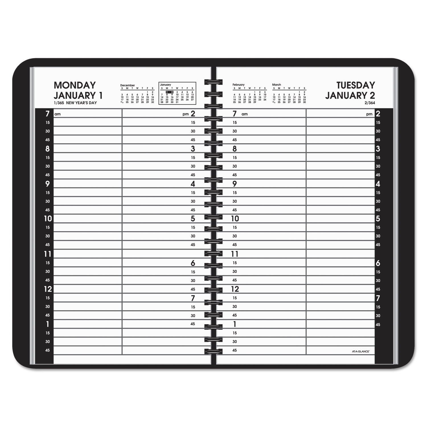 Daily Appointment Book With 15 Minute Appointments By At A Glance Aag