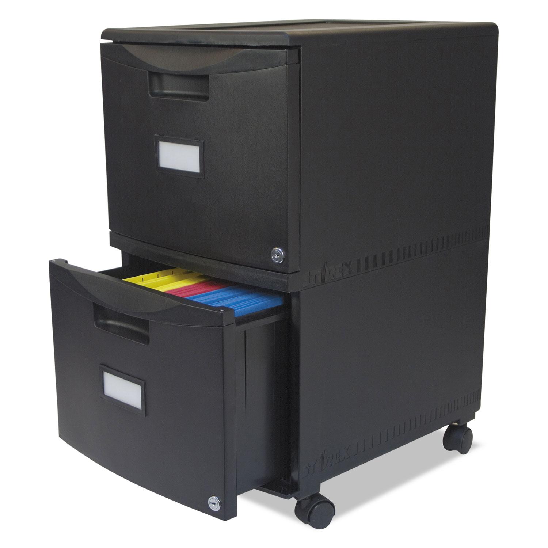 TwoDrawer Mobile Filing Cabinet by Storex STX61312B01C