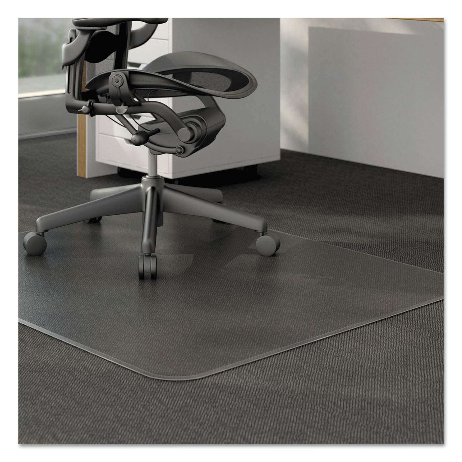 Moderate Use Studded Chair Mat for Low Pile Carpet by