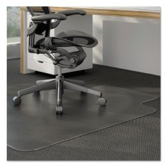 Heavy Duty Office Chair Mat For Carpet Design Top View Moderate Use Studded Low Pile 36 X 48 Lipped Clear Boss And Computer Products