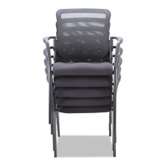 Stack Chairs Cheap Swivel Chair Replacement Parts Mesh Guest Stacking By Alera Aleel4314