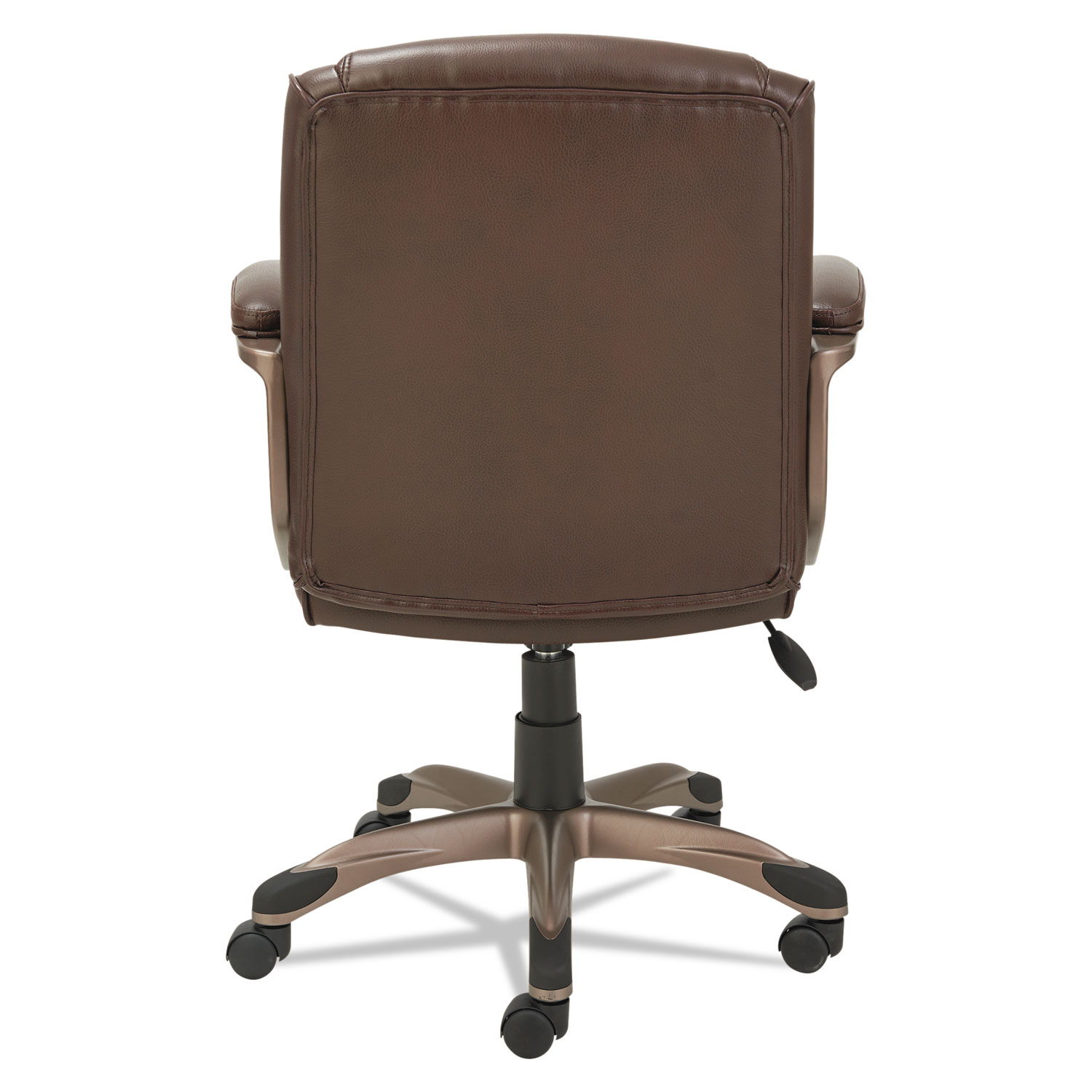 Spring Chair Alera Veon Series Low Back Leather Task Chair W Coil Spring Cushion Brown