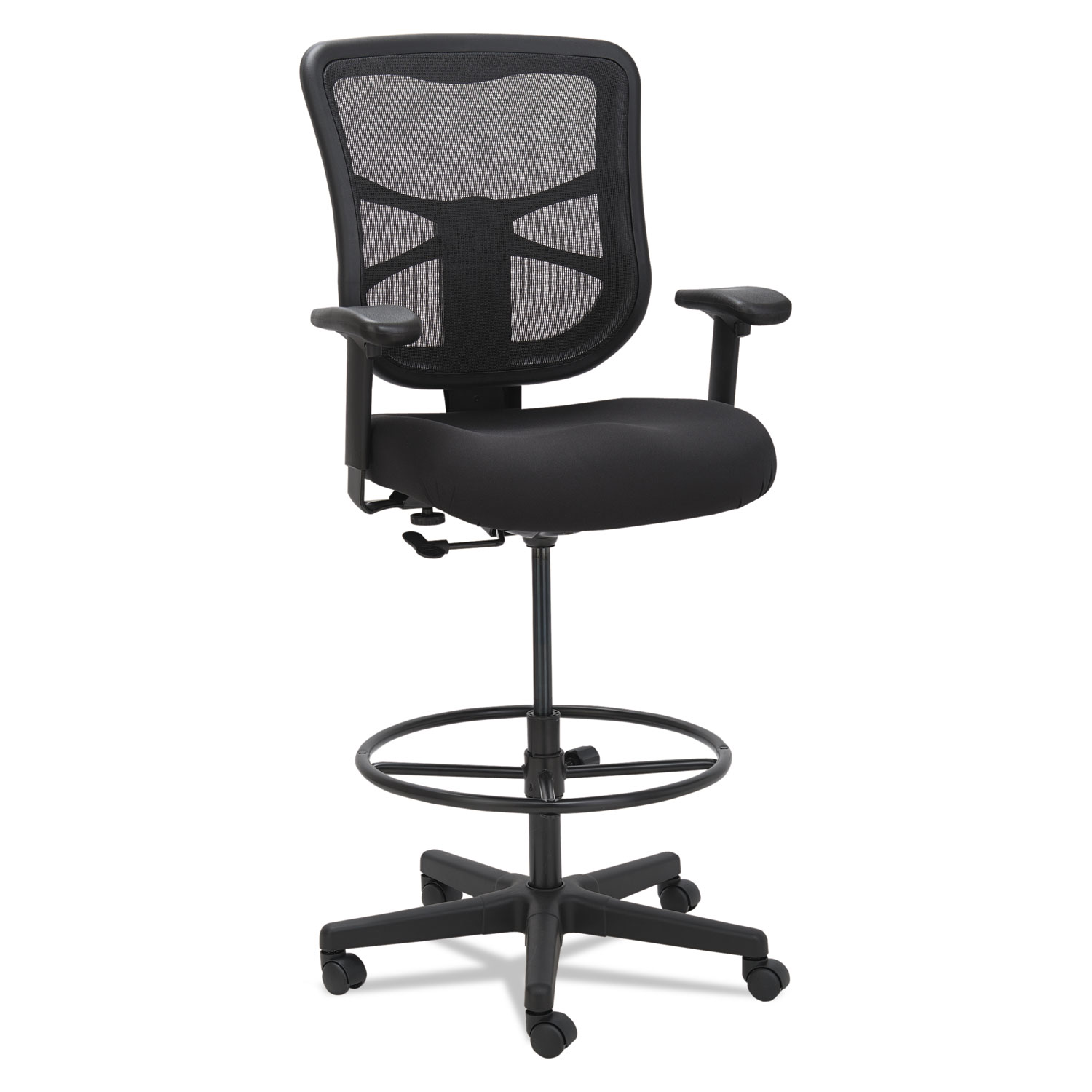 Alera Office Chairs Alera Elusion Series Mesh Stool Black Affordable Office
