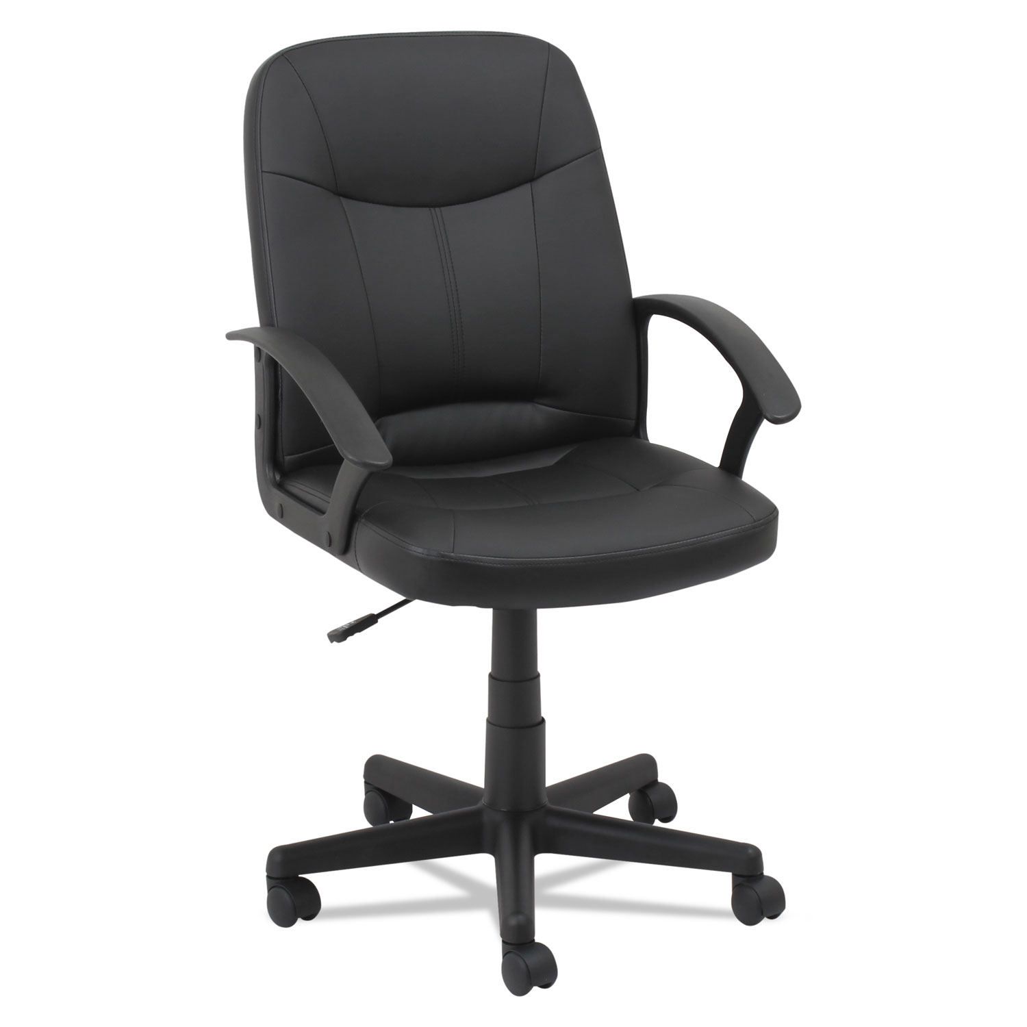 leather office chairs without arms fishing chair with rod holder executive by oif oiflb4219 ontimesupplies