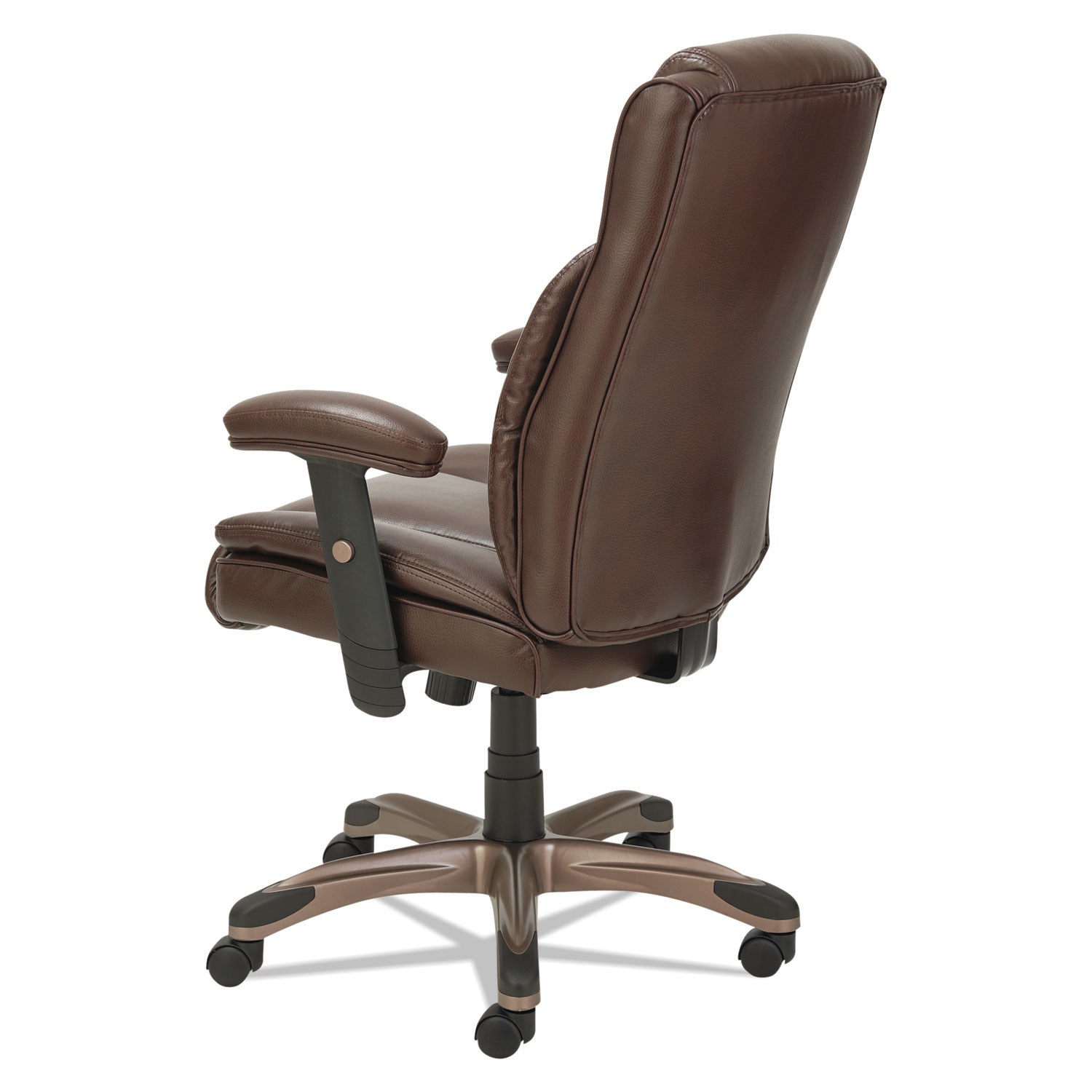Spring Chair Alera Veon Series Leather Midback Manager S Chair W Coil Spring Cushioning Brown