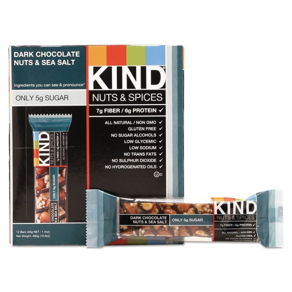 Nuts and Spices Bar by KIND KND17851 OnTimeSuppliescom