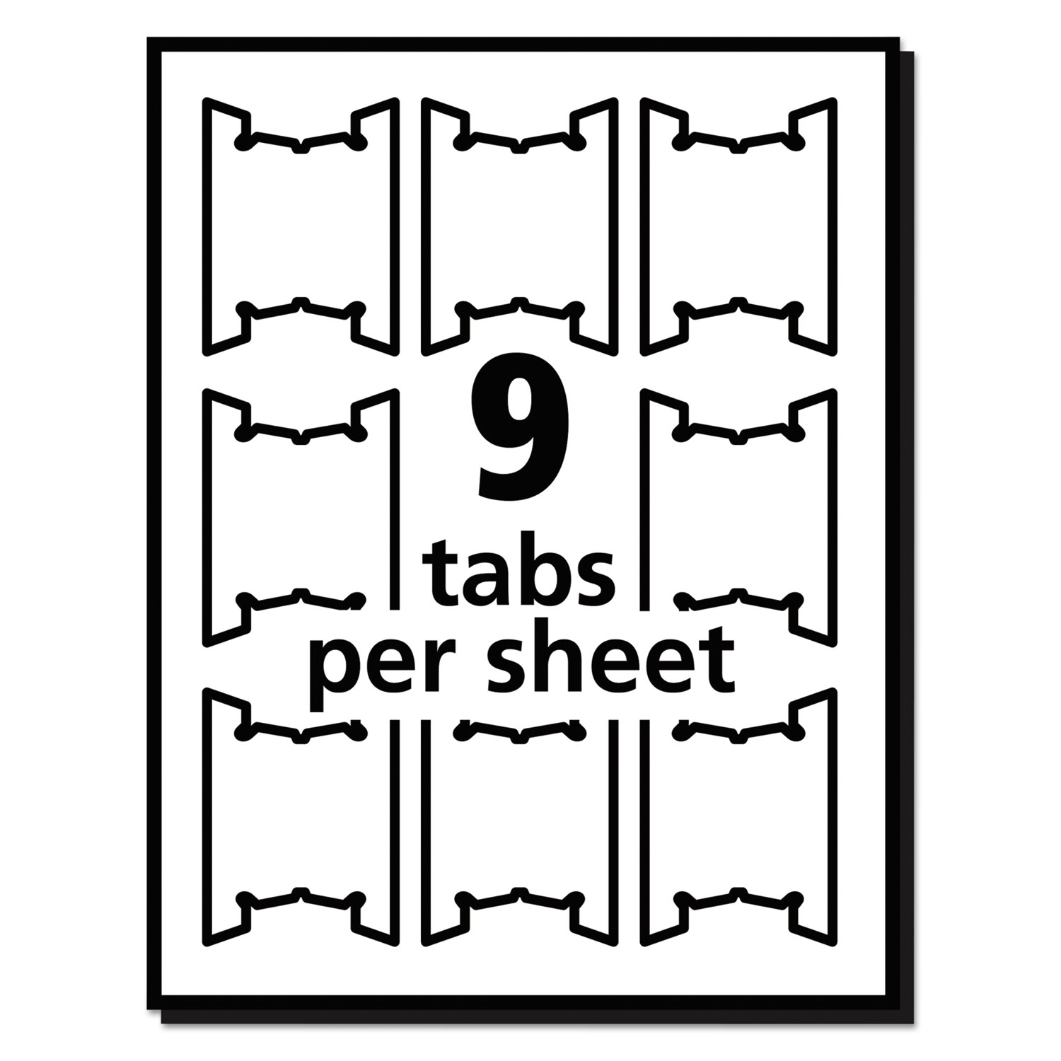 Print/Write-On Hanging Tabs by Avery® AVE5567