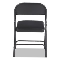 Two Seat Folding Chair Heavy Duty Lift Chairs Bariatric Steel With Brace Support By Alera