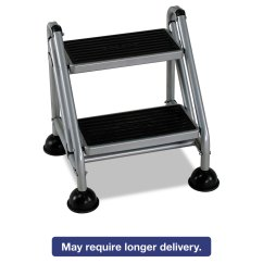 Walmart Rolling Chair Rubber Glides Commercial Step Stool By Cosco Csc11824ggb1
