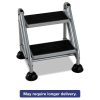 Rolling Commercial Step Stool by Cosco CSC11824GGB1 ...