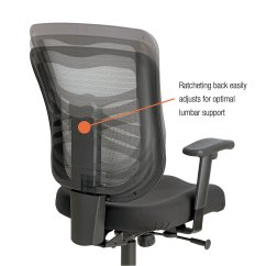 Alera Elusion Chair Brown Office Chairs Without Arms Series Mesh Mid Back Swivel Tilt By
