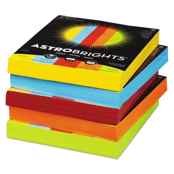 Color Paper - Five-color Mixed Carton 24lb 8.5 X 11 Assorted 250 Sheets Ream 5 Reams