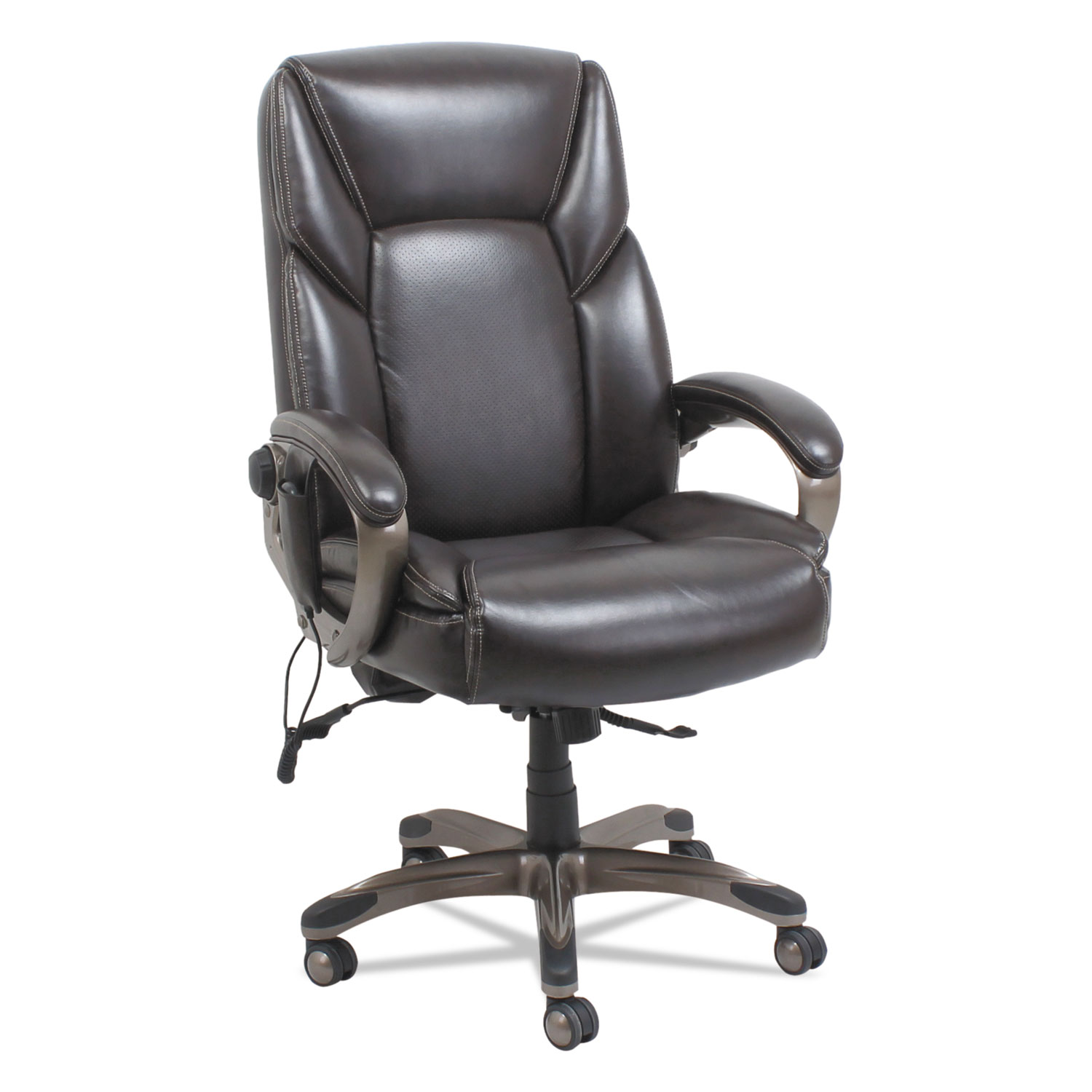 Massage Office Chair Shiatsu Heated Massage Chair Chocolate Marble Bronze Base