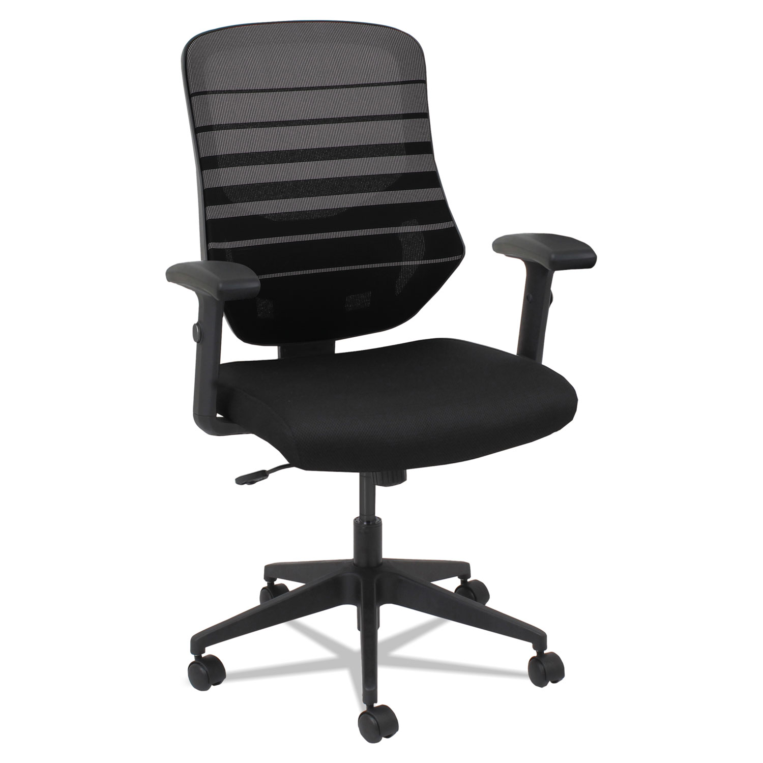 Alera Office Chairs Alera Embre Series Mesh Mid Back Chair Supports Up To 275 Lbs Black Seat Taupe Back Black Base