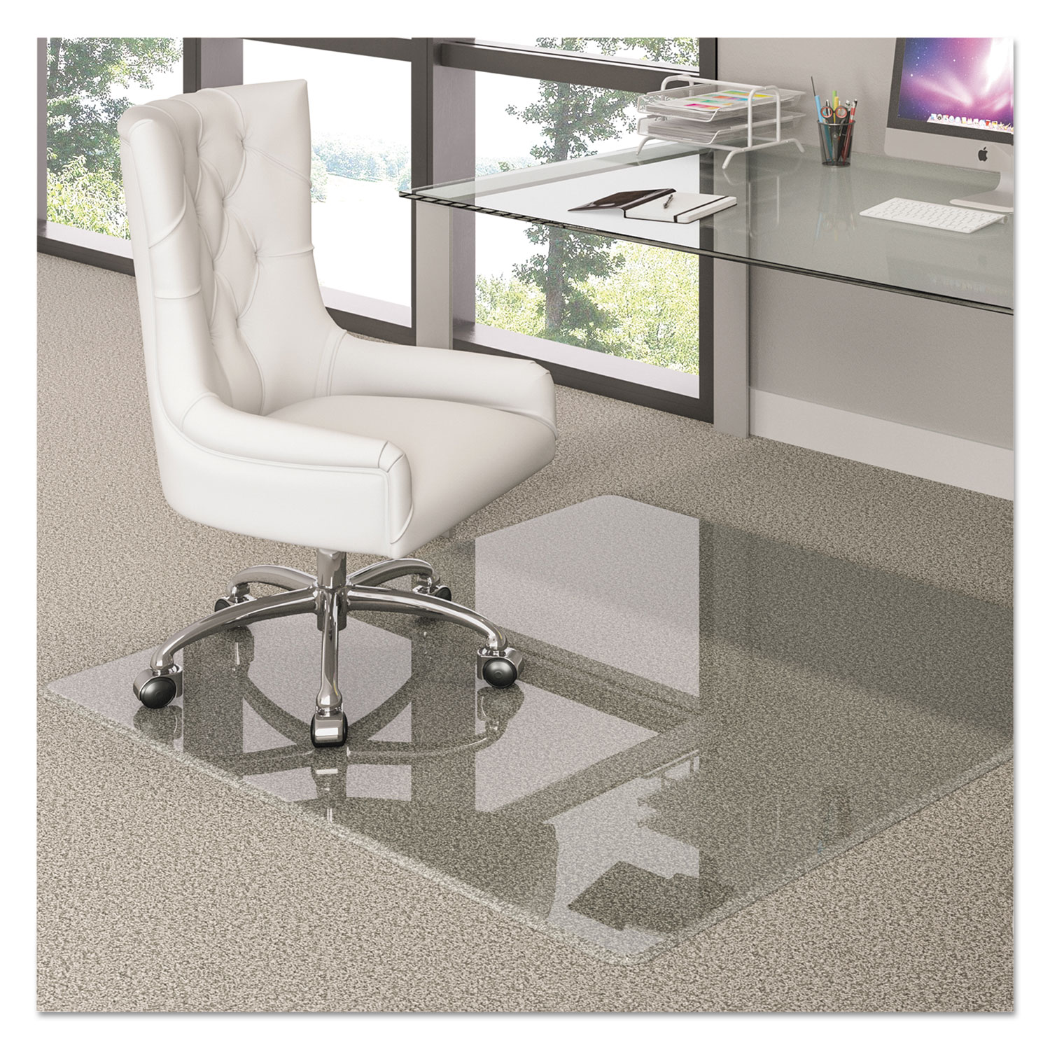 Premium Glass Chair Mat by deflecto DEFCMG70434860