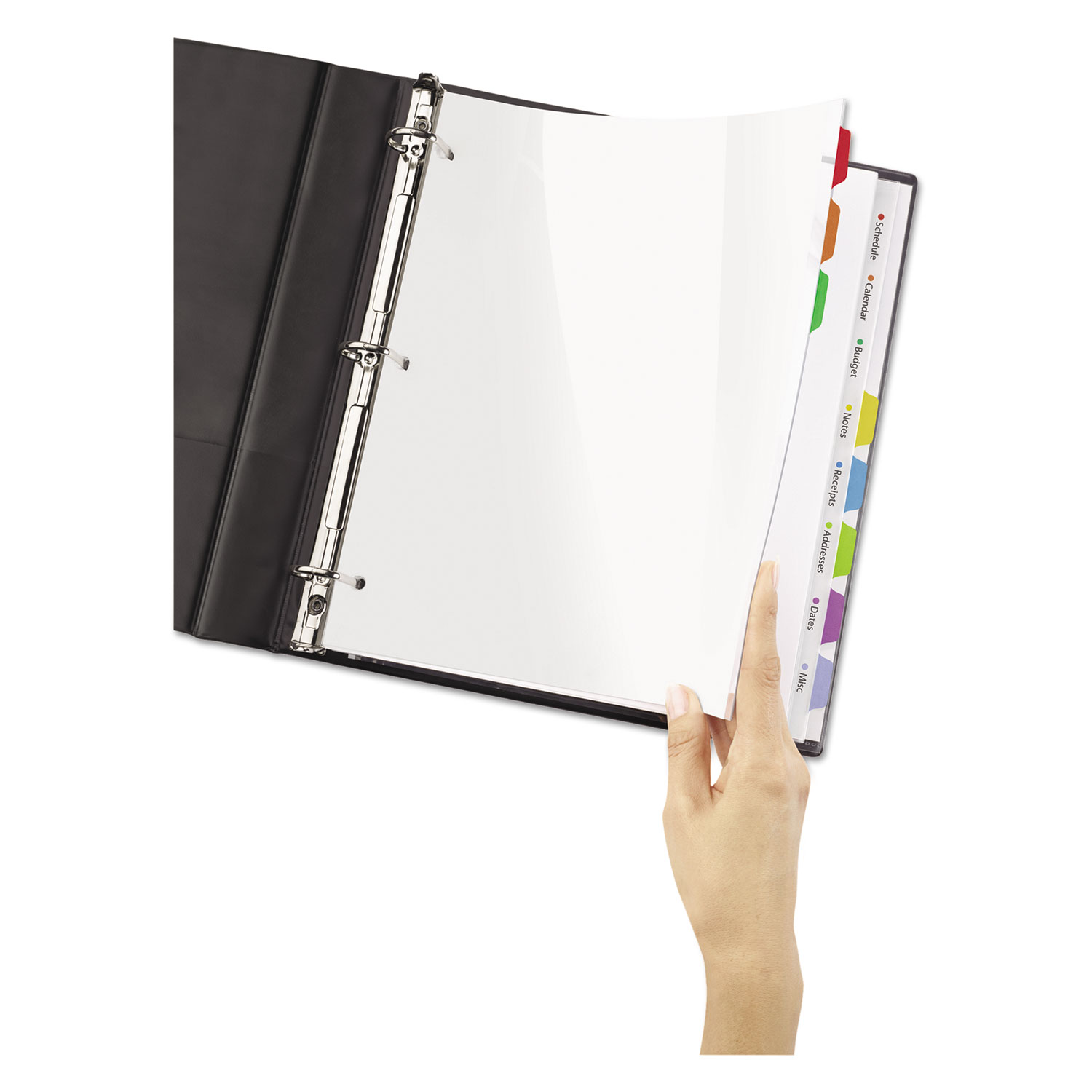 Ave Avery Clear Easy View Plastic Dividers With Sheet P
