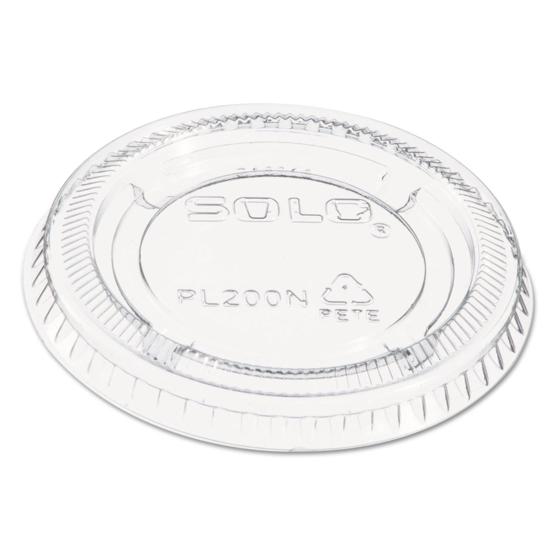 Complements Portion/Medicine Cup Lids, Plastic, Clear