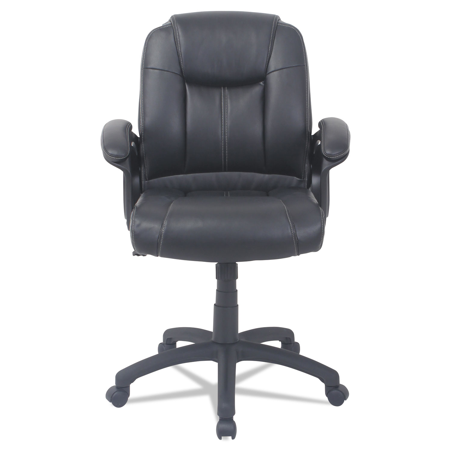 Executive Leather Chair Alera Cc Series Executive Mid Back Leather Chair Supports Up To 275 Lbs Black Seat Black Back Black Base