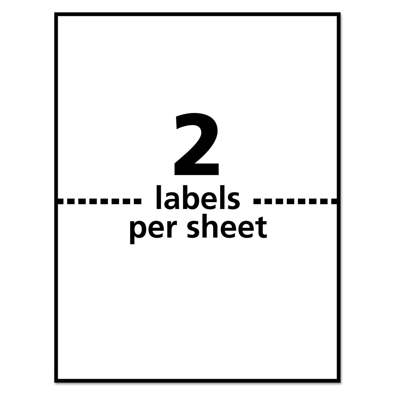 Weatherproof Shipping Labels W Trueblock Laser White 5