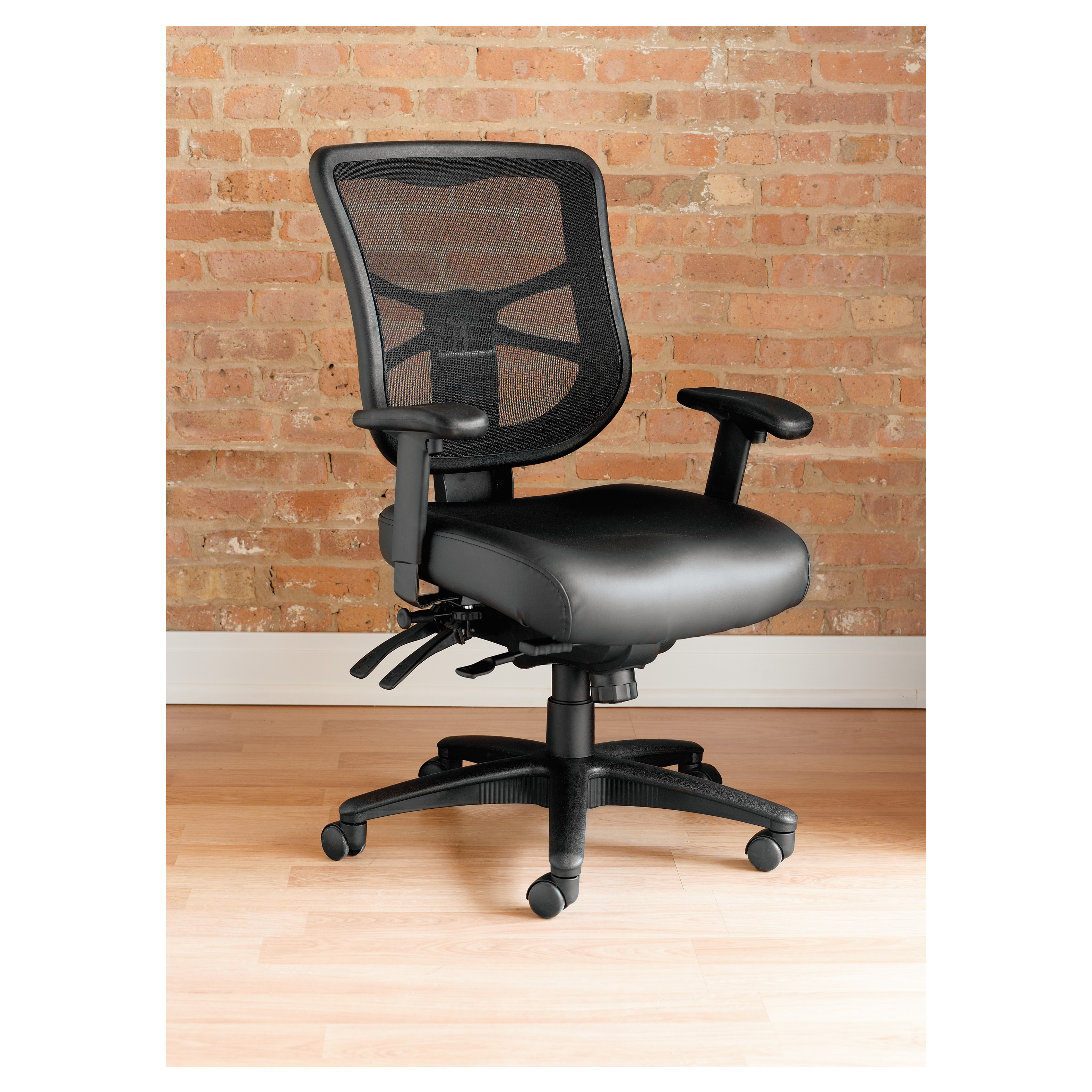 Alera Office Chairs Alera Elusion Series Mesh Mid Back Multifunction Chair Black