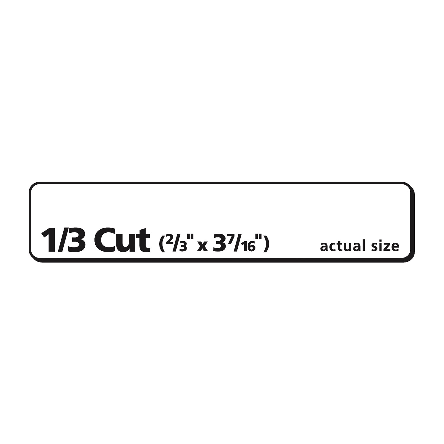 Ecofriendly Permanent File Folder Labels 0 66 X 3 44