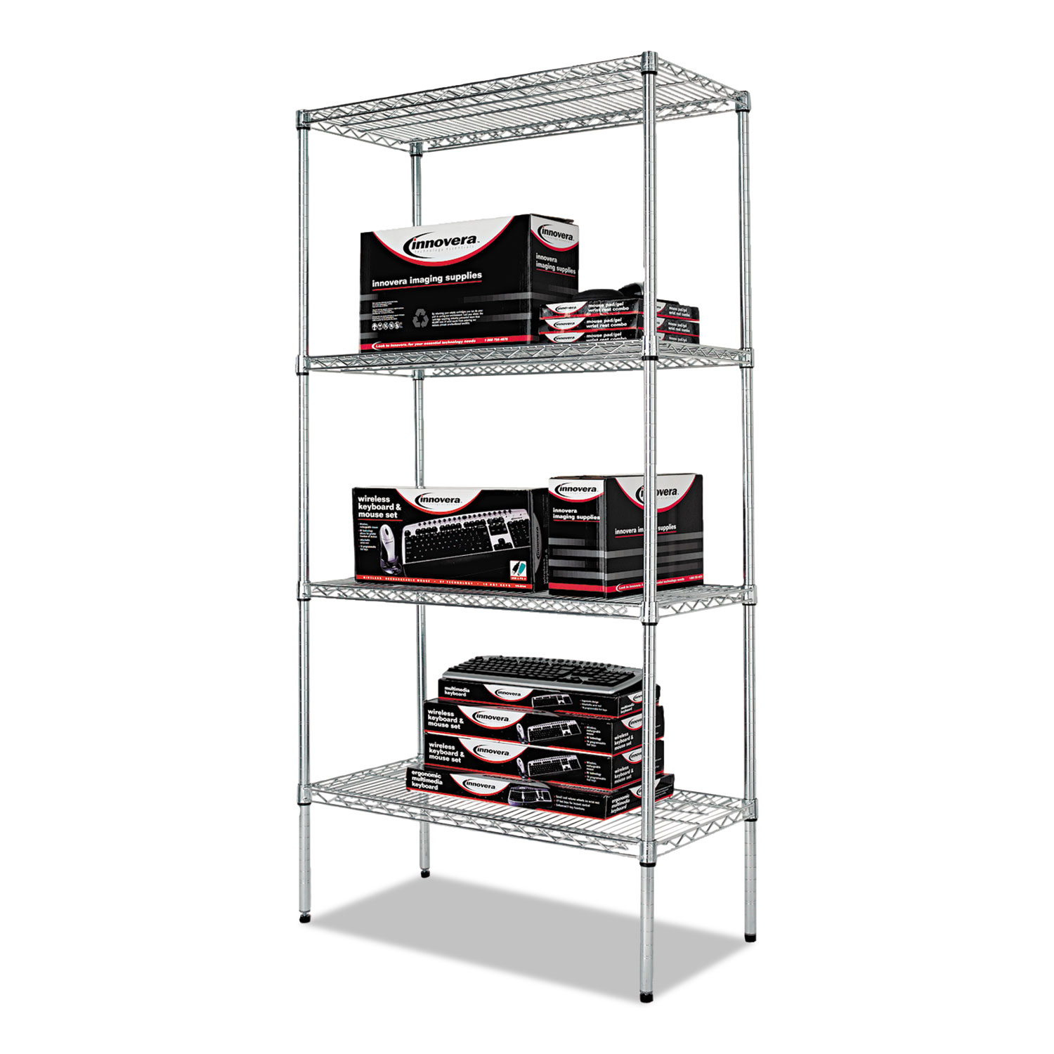 Alesw Sr Alera Industrial Heavy Duty Wire Shelving