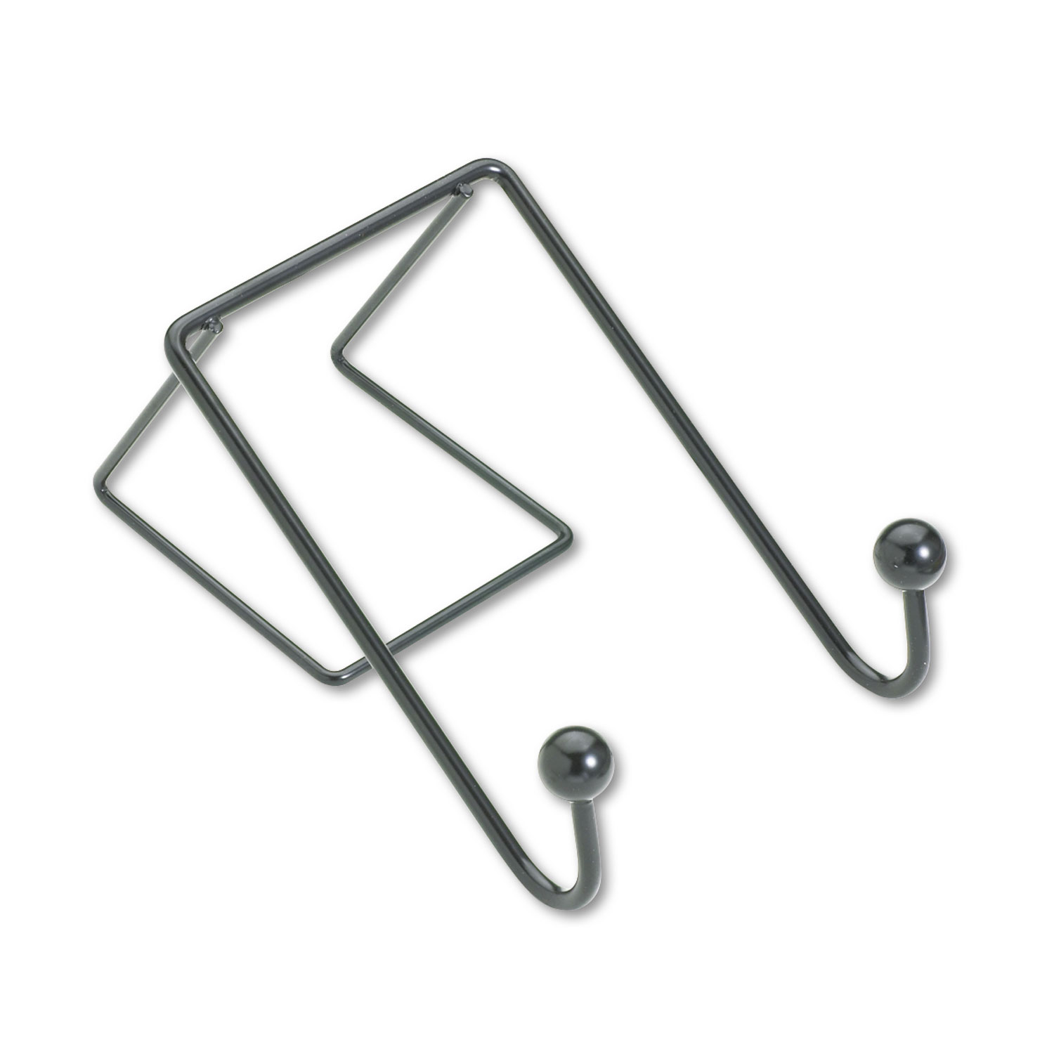 Partition Additions Wire Double Garment Hook 4 X 6 Black