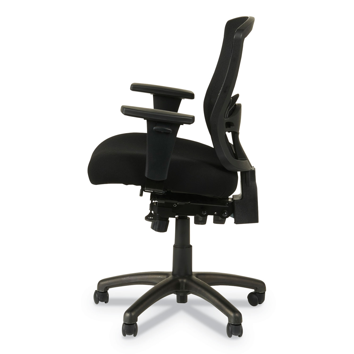 Alera Office Chairs Alera Etros Series Petite Mid Back Multifunction Mesh Chair Black