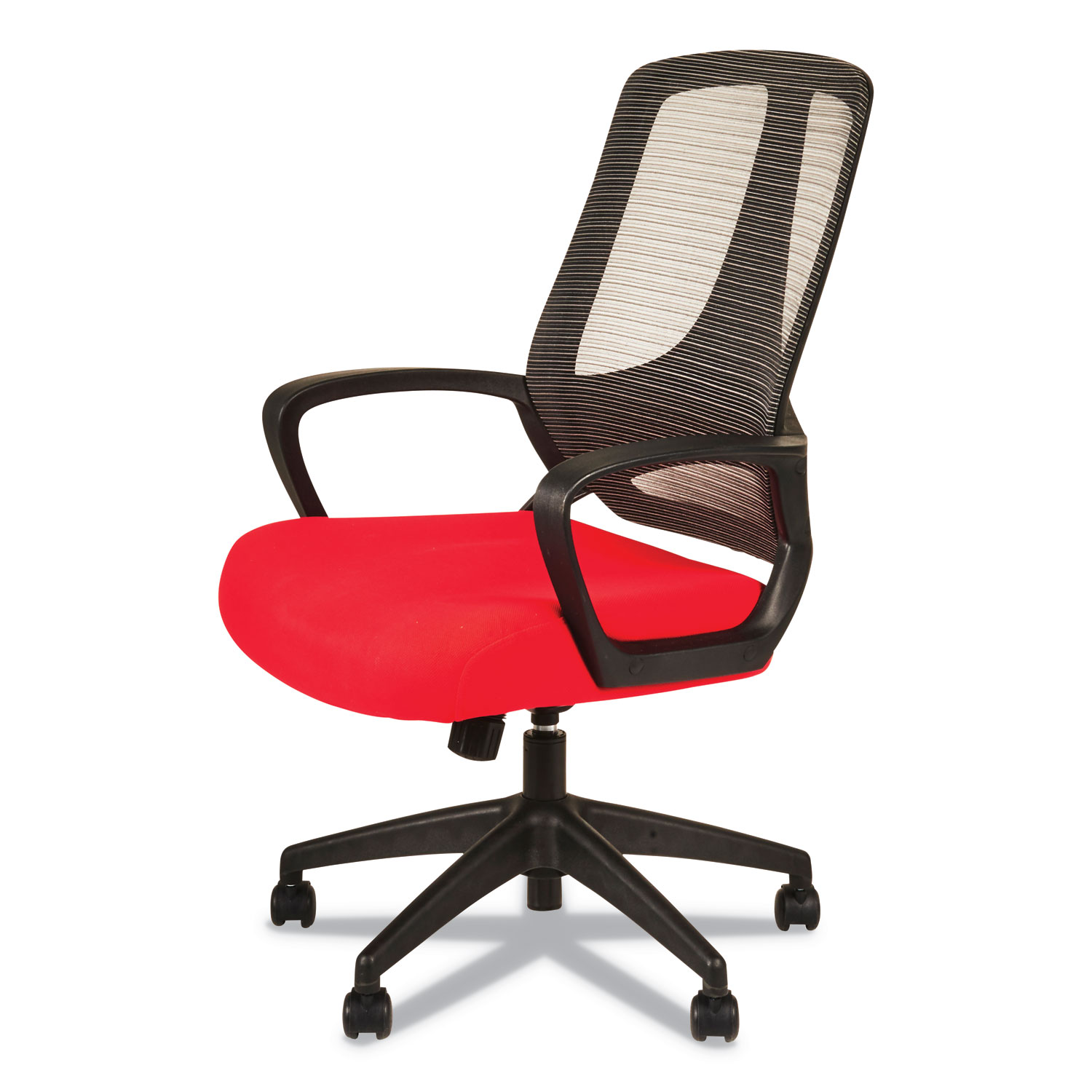Alera Office Chairs Alera Mb Series Mesh Mid Back Office Chair Red Black Goddess